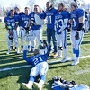 Leominster players celebrate after the win over Fitchburg during the Thanksgiving classic on Saturday afternoon at Doyle Field. SENTINEL & ENTERPRISE / Ashley Green