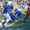 Leominster's Eddie Rivera carries the ball during the Thanksgiving matchup between Leominster and Fitchburg on Saturday afternoon at Doyle Field. SENTINEL & ENTERPRISE / Ashley Green