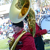 Matthew Morrissey performs with the Red Raider Marching Band during the Thanksgiving matchup on Saturday afternoon at Doyle Field. SENTINEL & ENTERPRISE / Ashley Green