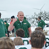 Oakmont listens to coach Charlie Raff after the 13-7 loss to Gardner during the Thanksgiving game on Thursday morning. SENTINEL & ENTERPRISE / Ashley Green