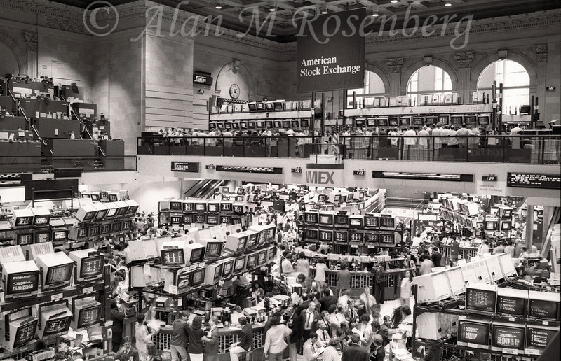 American Stock Exchange Trading Floor August 1983