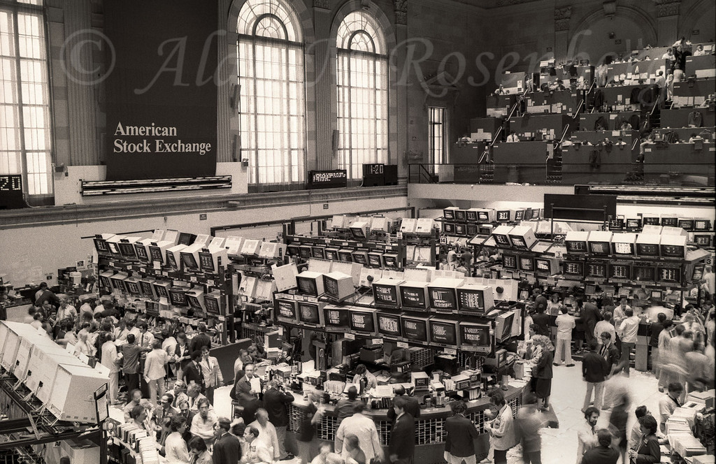 American Stock Exchange Trading Floor 1983