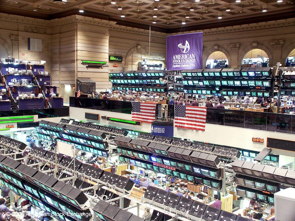 American Stock Exchange Trading Floor 2001