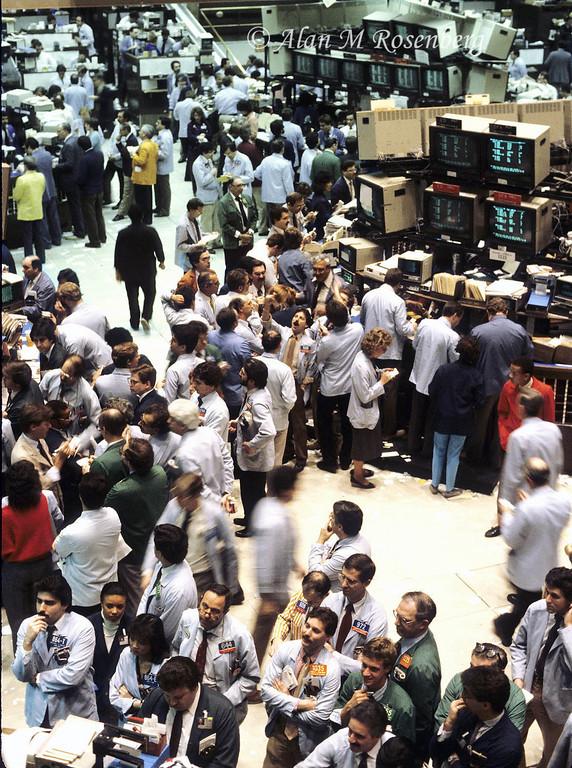 American Stock Exchange Trading Floor-Early 1980's