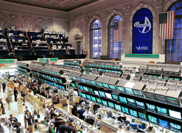 "THE AMERICAN STOCK EXCHANGE  TRADING FLOOR PHOTOS   ""   THE 1980'S """