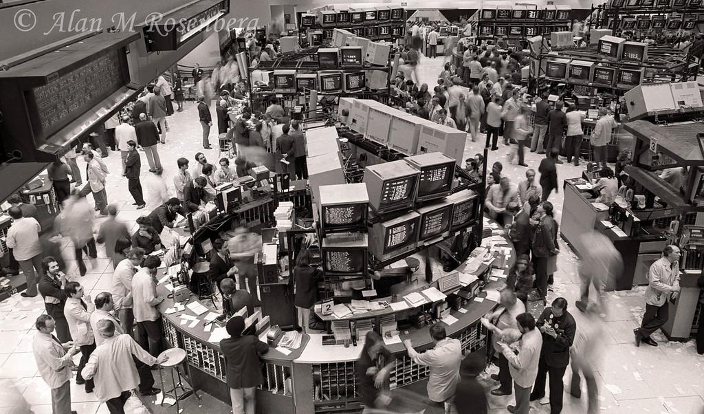 American Stock Exchange Trading Floor March 1983