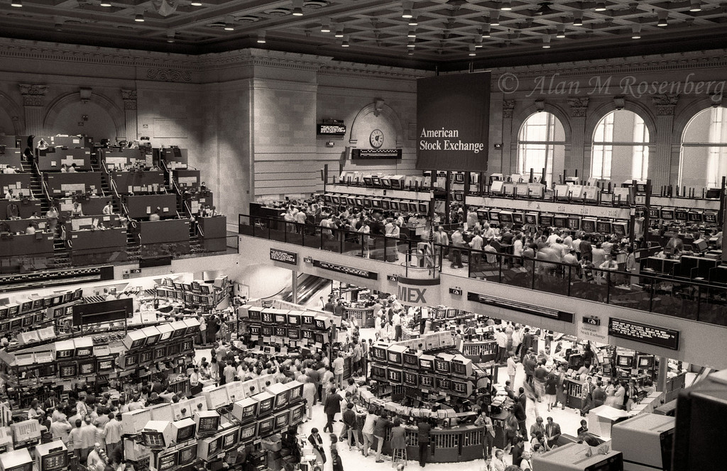 American Stock Exchange Trading Floor-August 1983