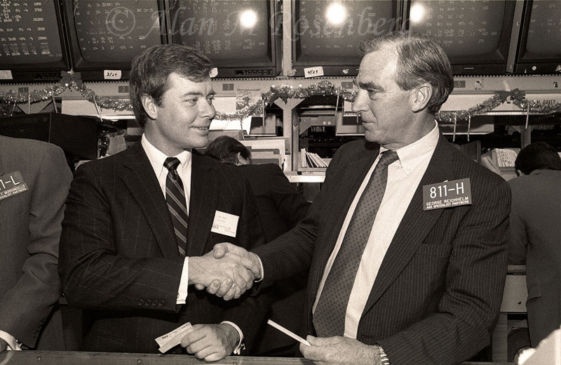George Reichhelm, AGS Specialists,(R) welcomes the  President of Danielson  Corp. listed Dec. 6, 1990