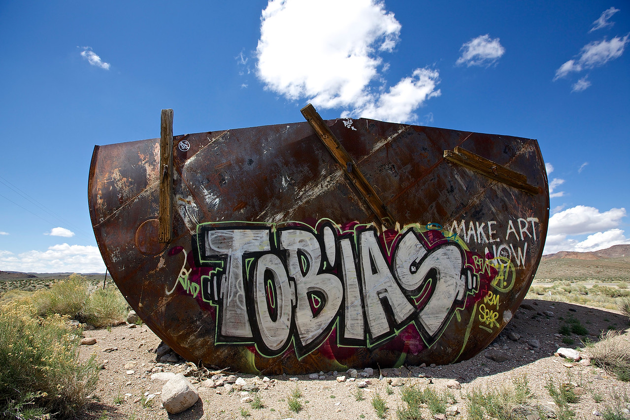 Tobais.  High Desert Graffiti.  Hwy 6, Nevada
