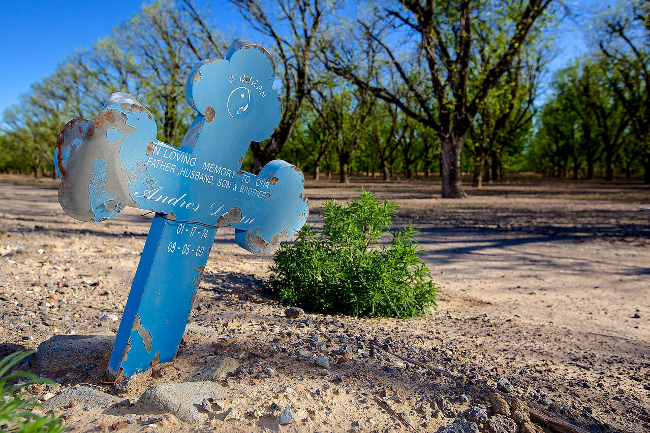 Roadside Memorial #14, Hwy 2, El Paso to Fort Hancock, Texas
