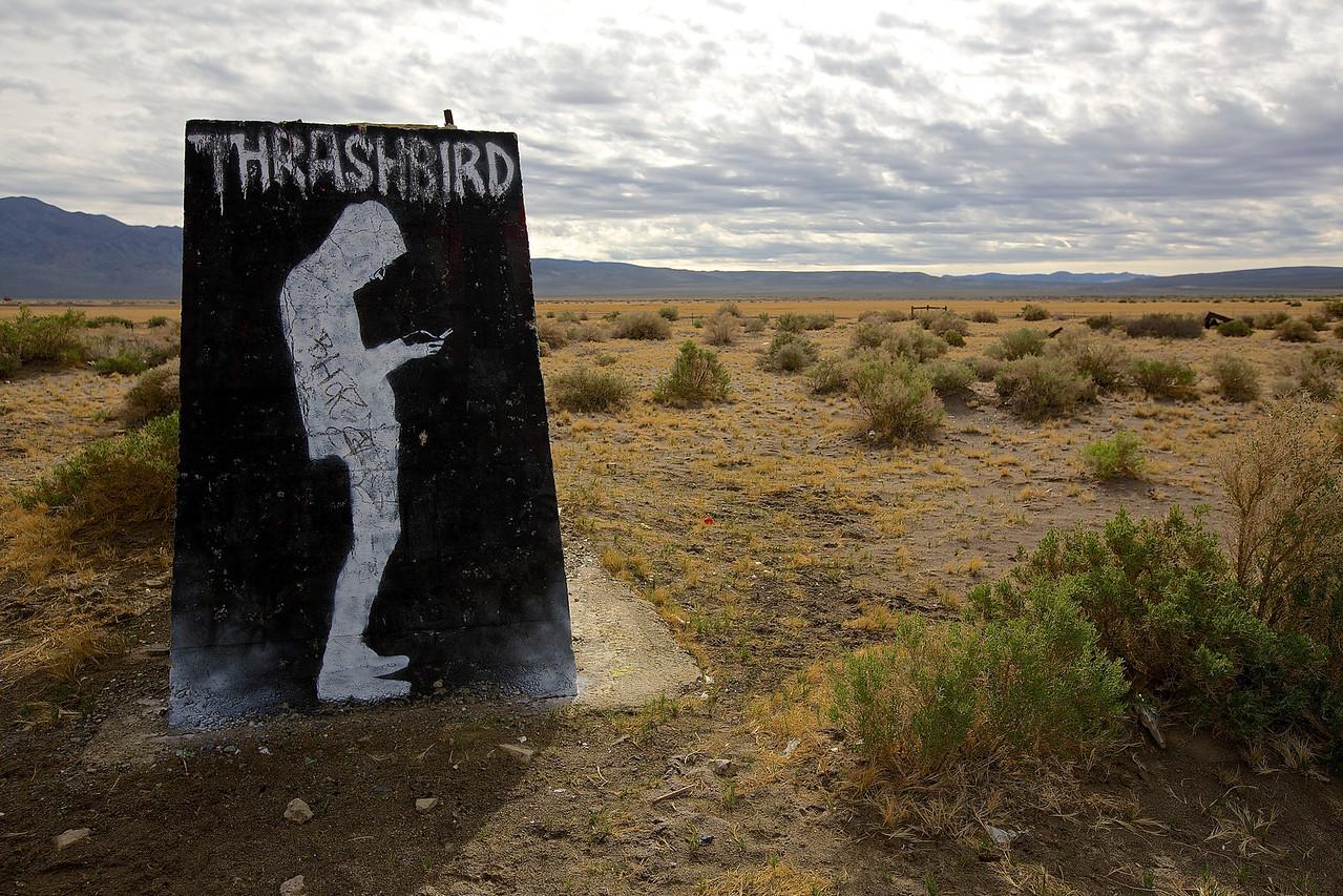 Thrashbird.  Graffiti Park #1.  Near Tonopah, Nevada