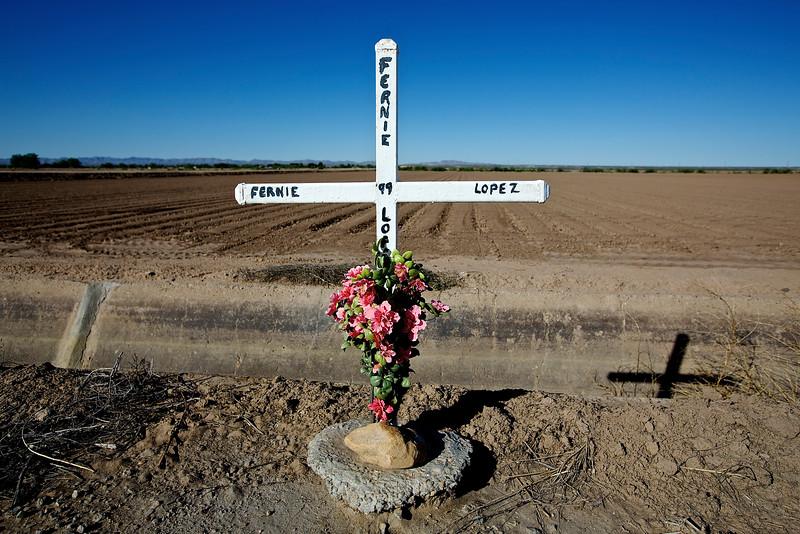Roadside Memorial #15.  Hwy 2, San Agustin, Texas