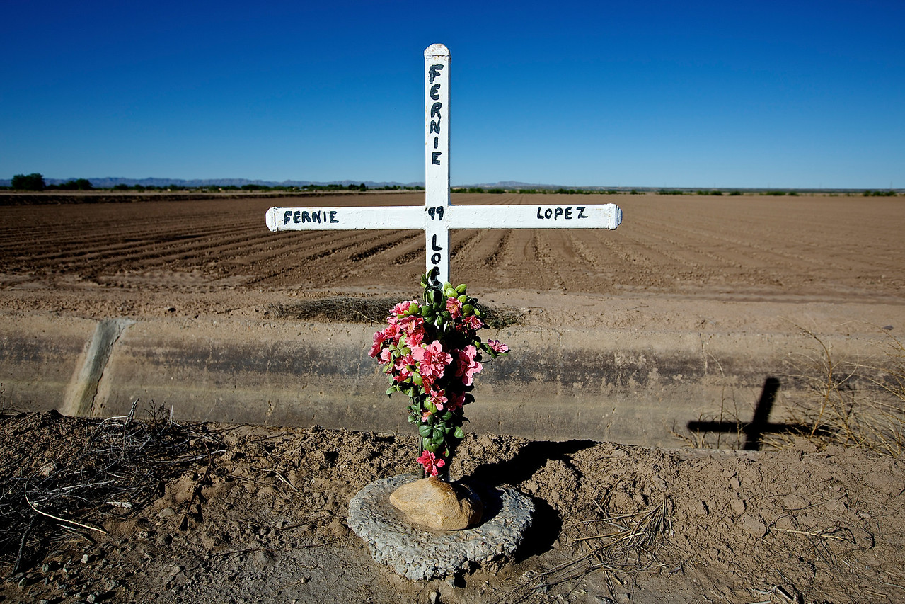 Roadside Memorial #15.  Hwy 2, San Agustin, Texas