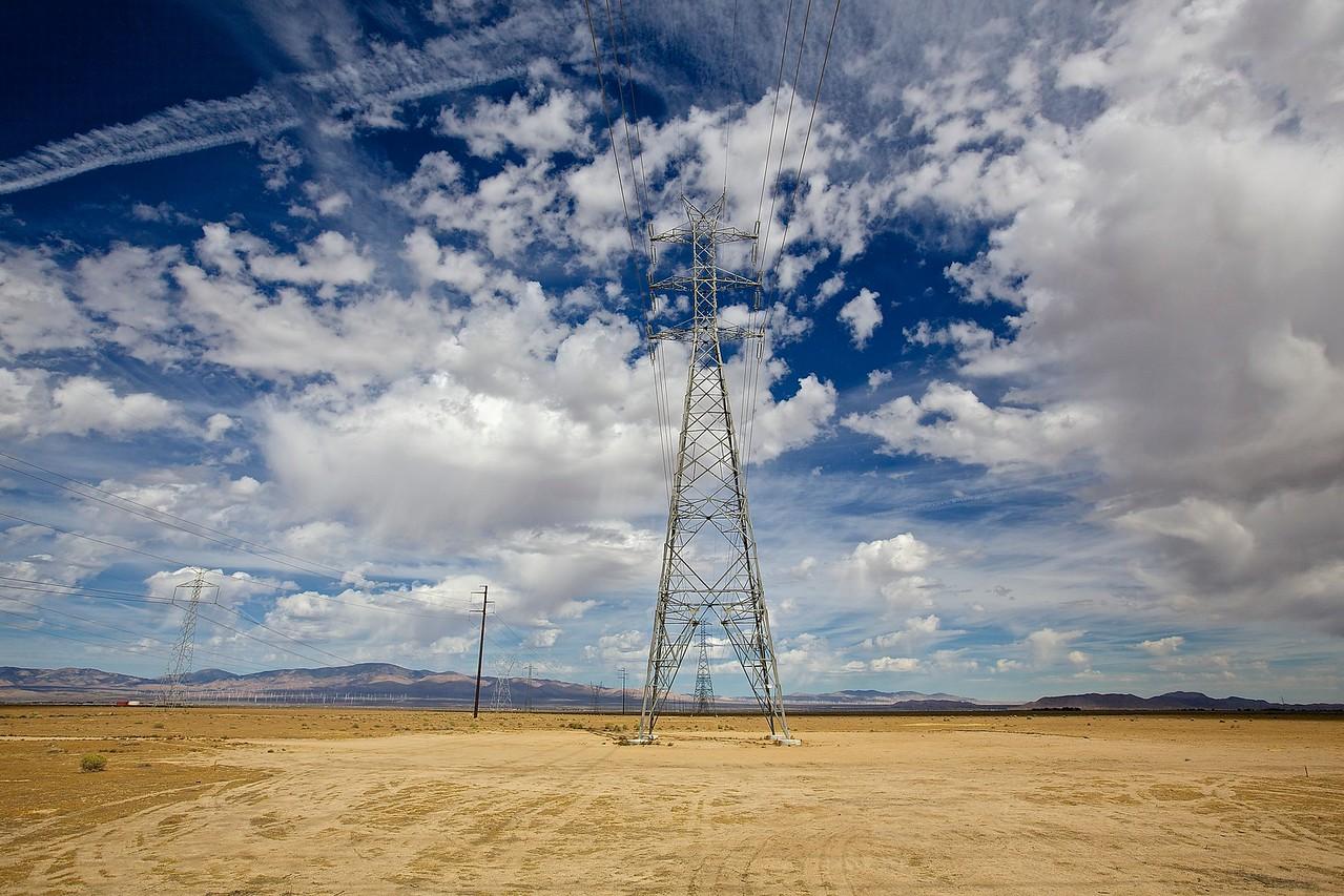 Power. Outside Of Lancaster, California