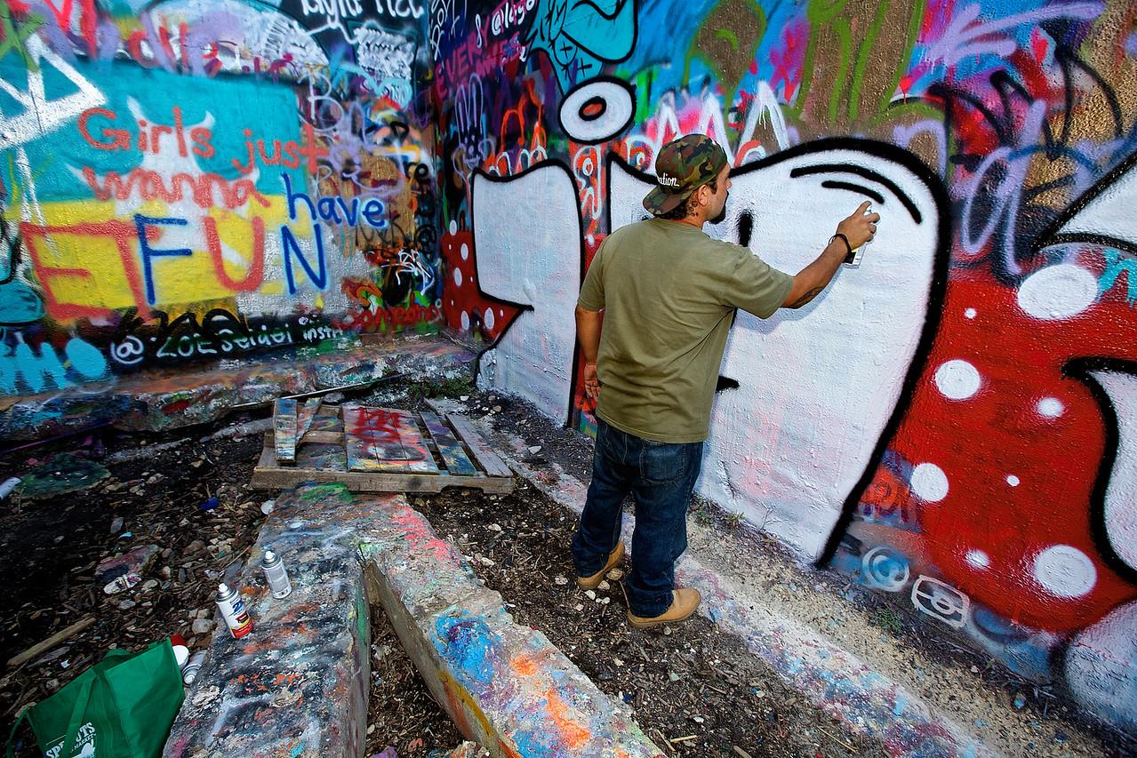 Artist. Graffiti Park At Castle Hills #9.  Austin, Texas