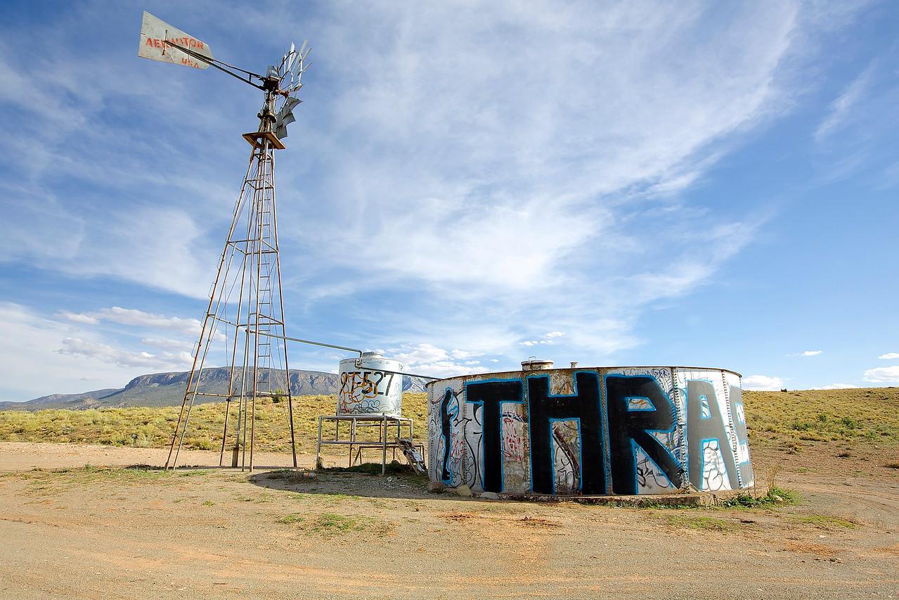 Thrash.  Graffiti Outside Kayenta, Arizona