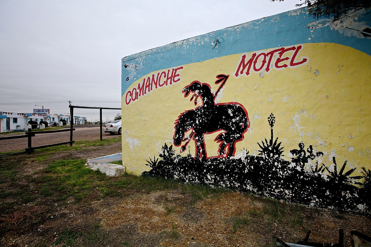 Comanche Motel.  West Texas