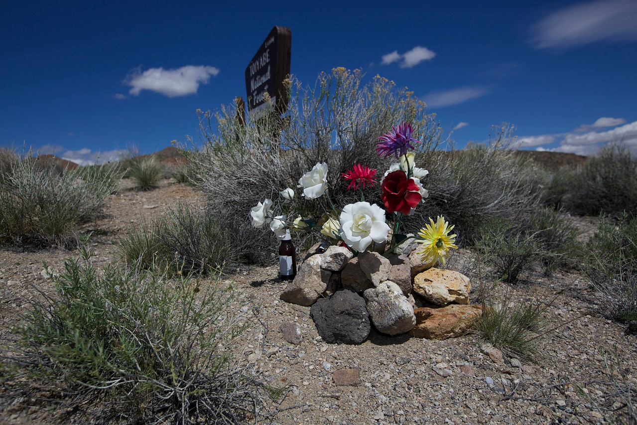 Roadside Memorial #2. Toiyabe National Forest, Hwy 6, Nevada