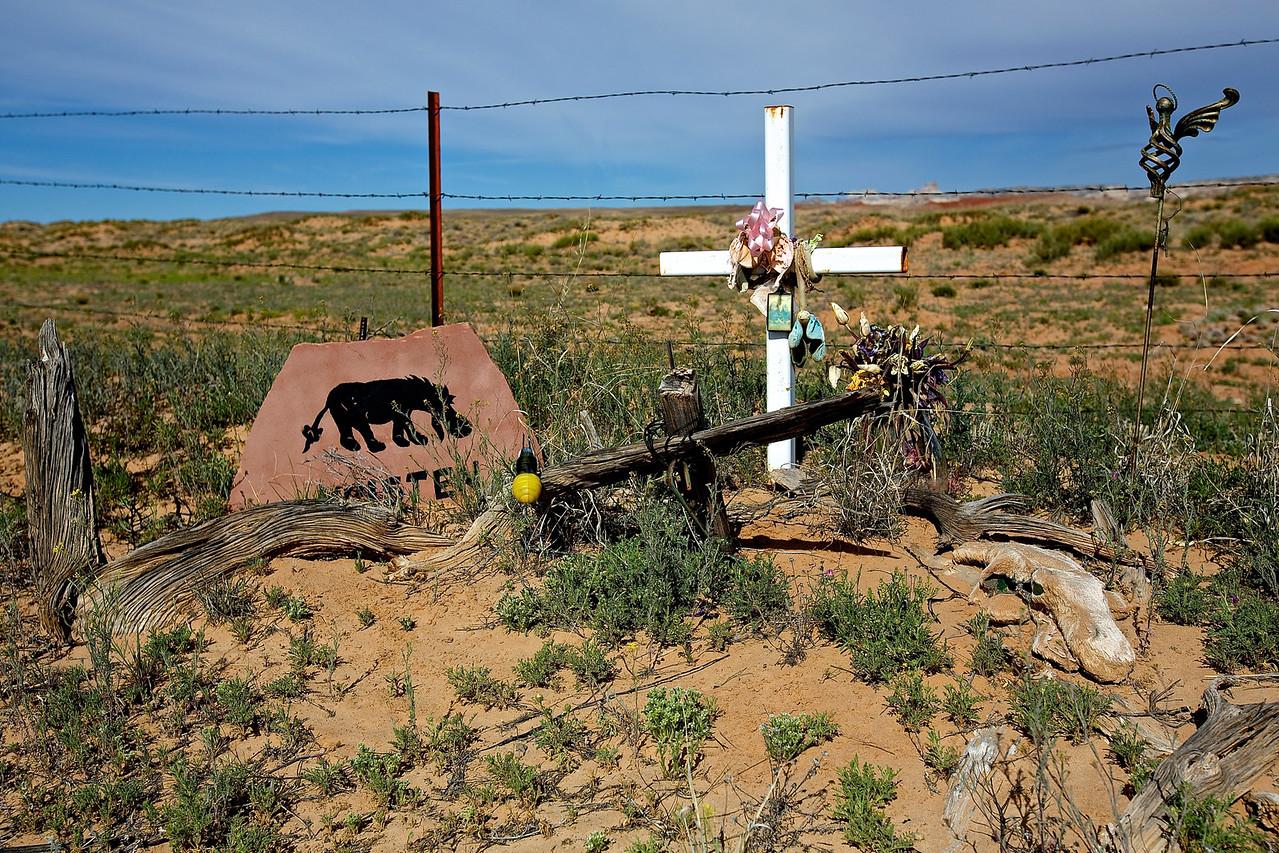 Kristen.  Roadside Memorial #21. Hwy 24 between Green River and Hanksville, Utah