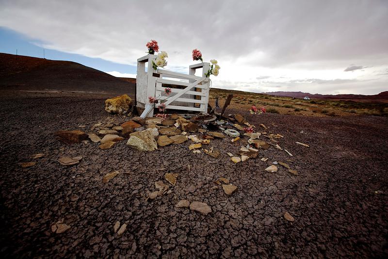 Roadside Memorial #10, Hwy 98, Willow Springs, Arizona