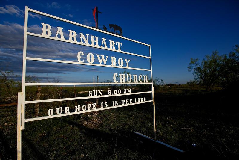 Cowboy Church,  Hwy 67, Barnhart, Texas