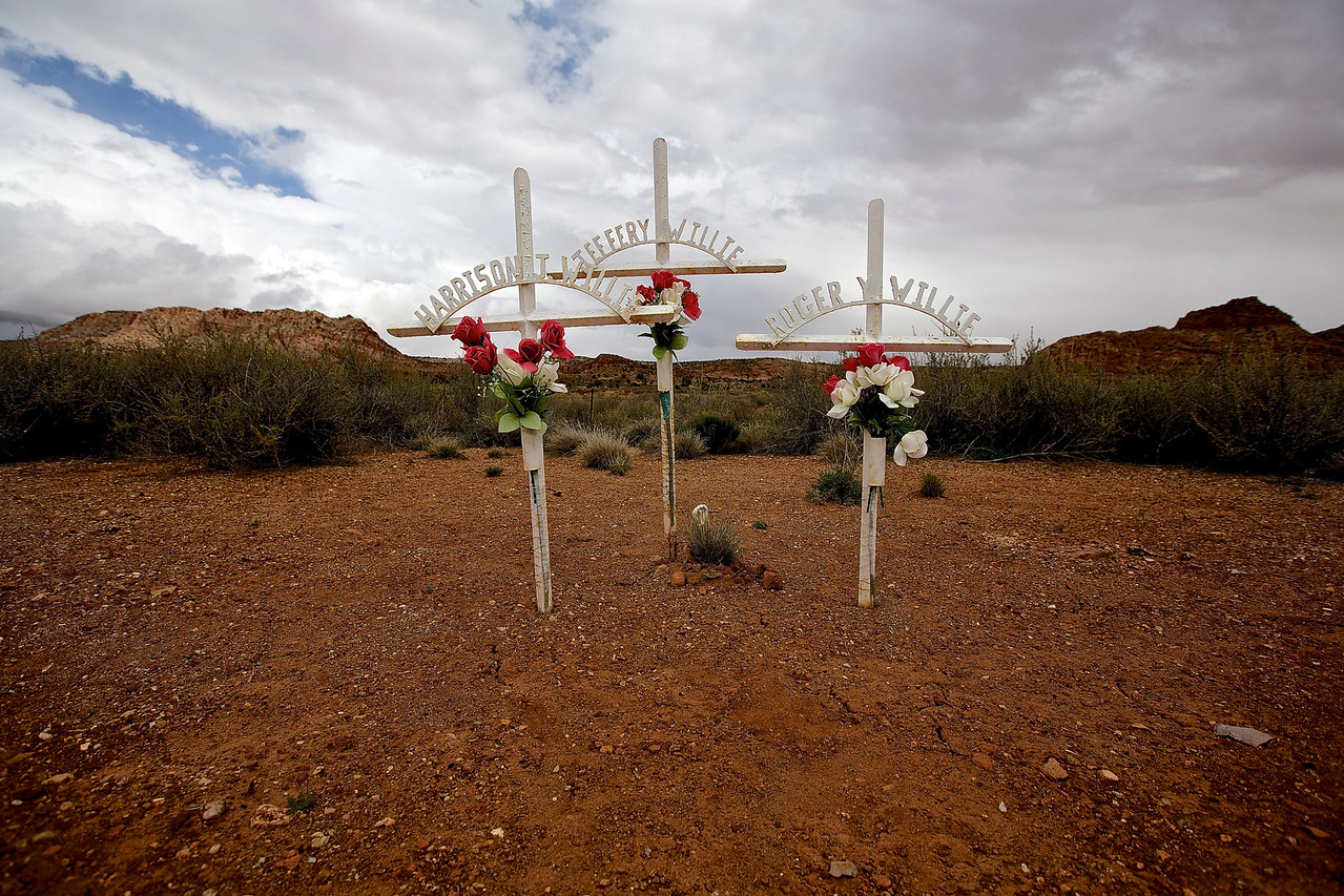 Roadside Memorial #6.  Hwy 89, Near Willow Springs, Arizona
