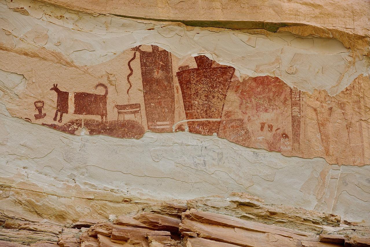 Petroglyph #2.  Near Goblin State Park, Utah. Hwy 24