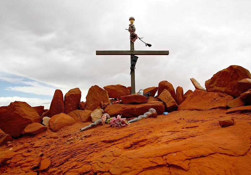 Roadside Memorial #8. Hwy 160 Near Moenkopi, Arizona