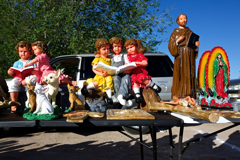 Icons In An Open Market.  Hwy 2, El Paso, Texas
