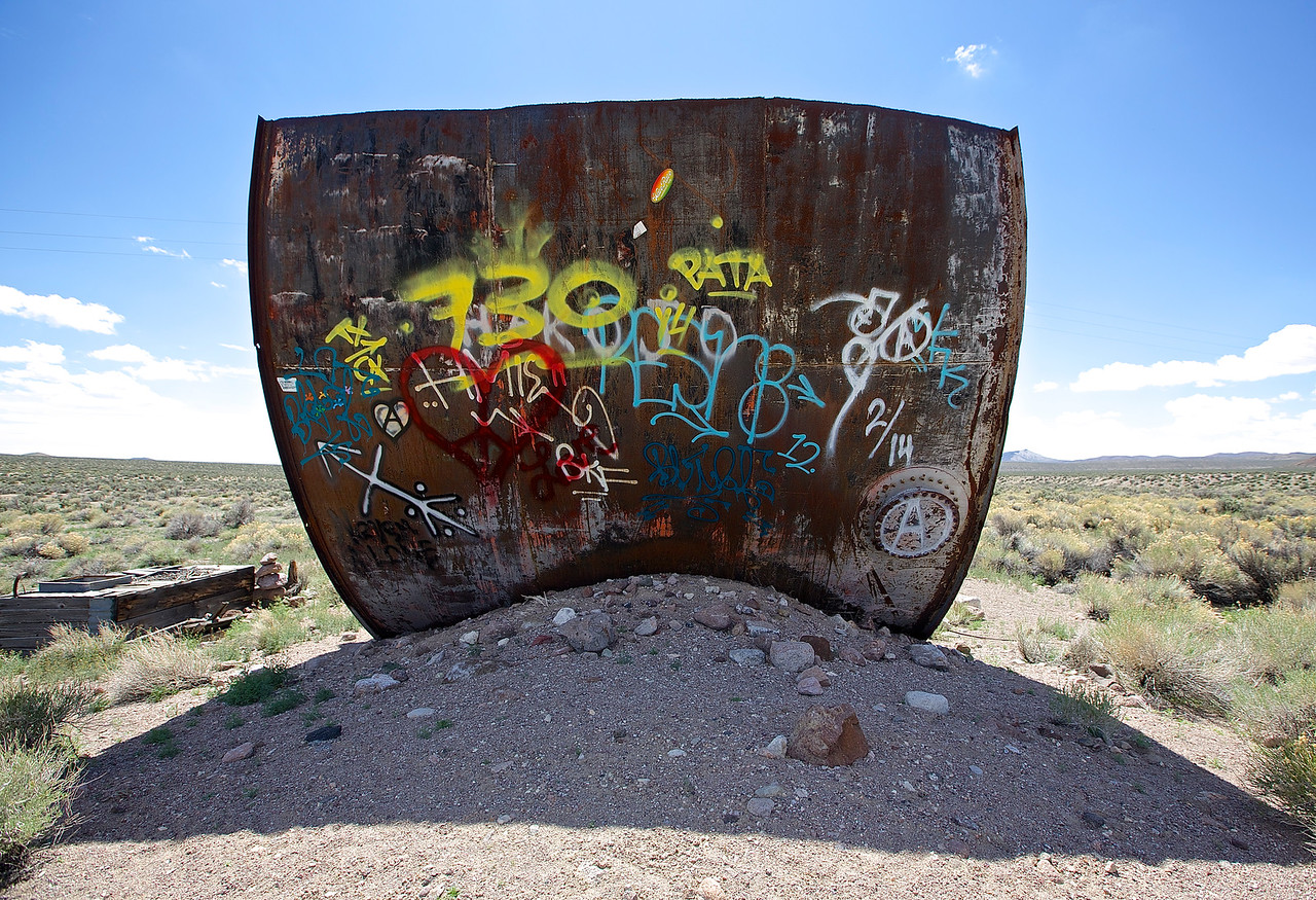 Graffiti In The High Desert.  Hwy 6, Nevada.