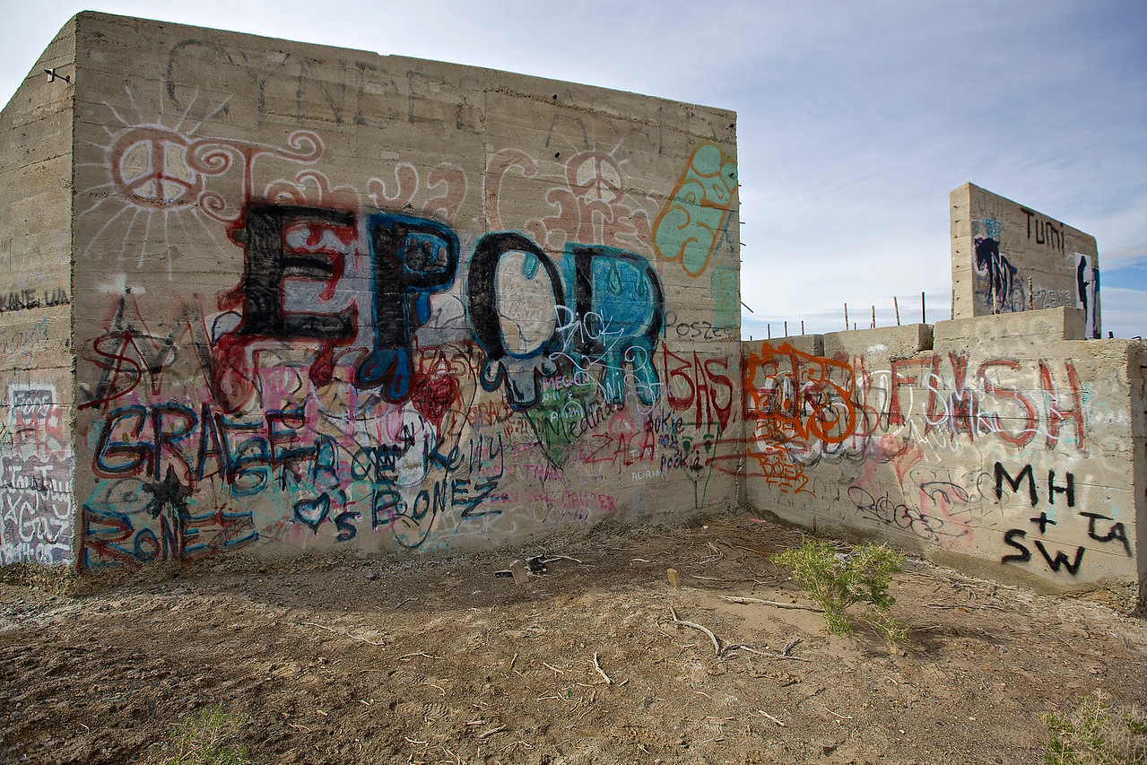 Graffiti Park #3.  Near Tonopah, Nevada