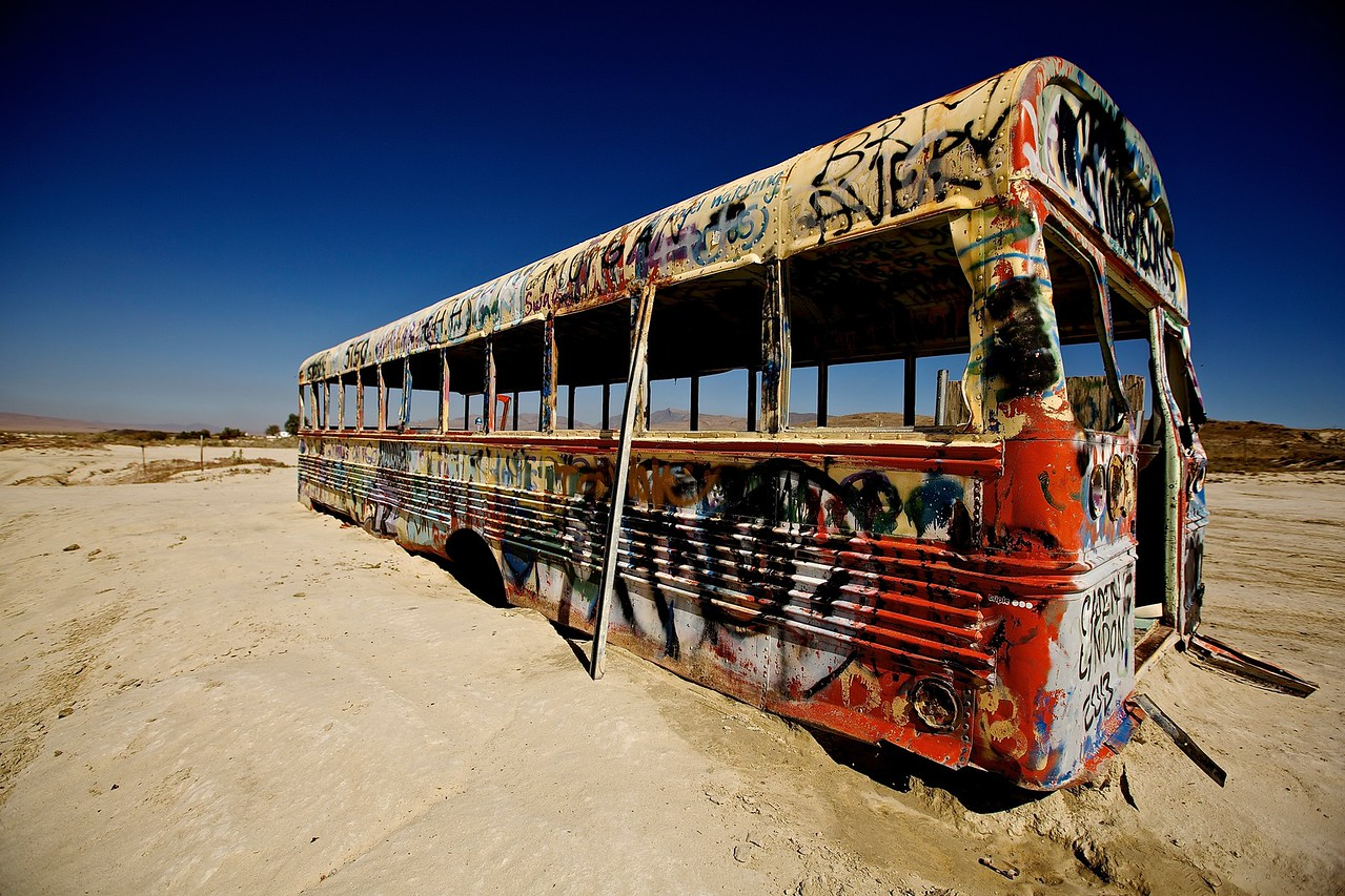 Bus No More #1. Nevada Desert