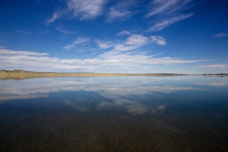 Lake. Montana Grasslands