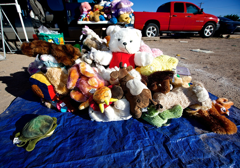 Stuffed Animals At An Open Market.  Hwy 2, El Paso, Texas