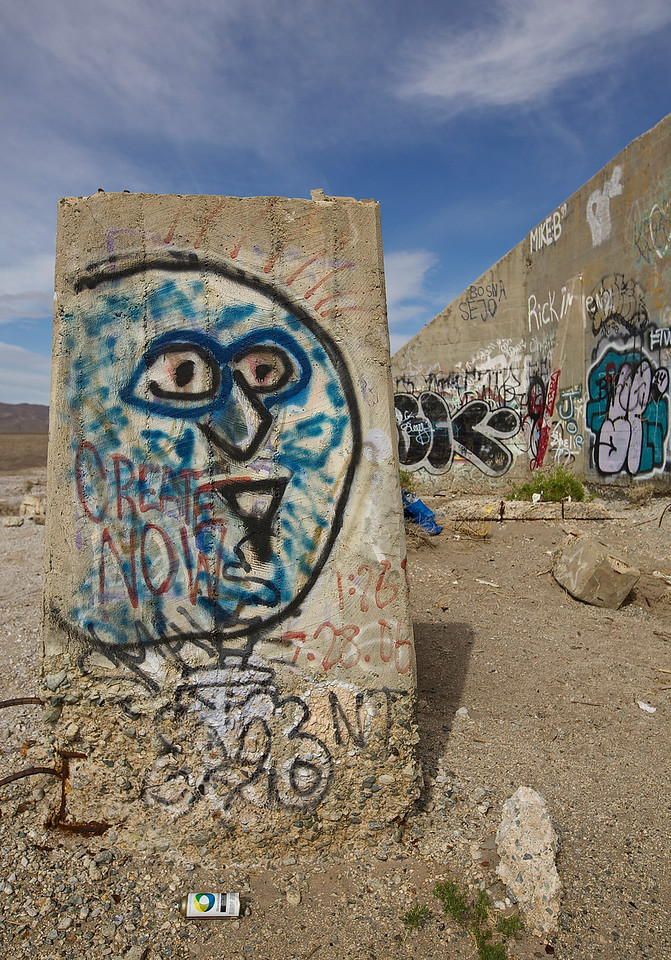 Spray Paint. Graffiti Park #4.  Near Tonopah, Nevada