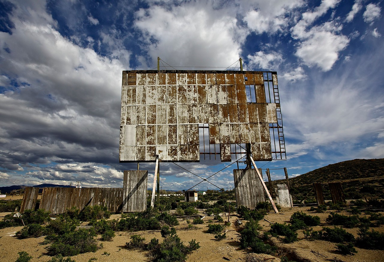 Abandoned Drive-In.  Coaldale, Nevada