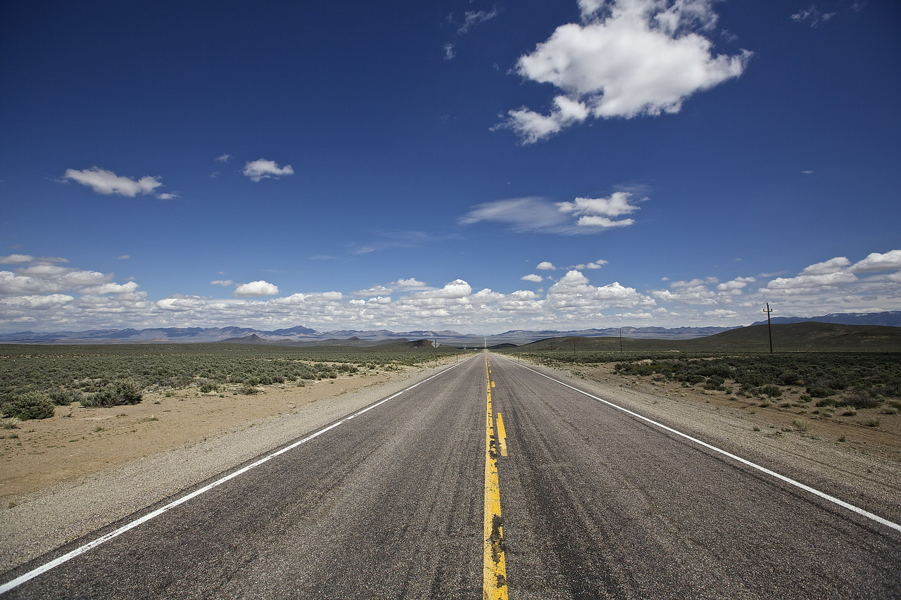 Open Road.  Hwy 6, Nevada