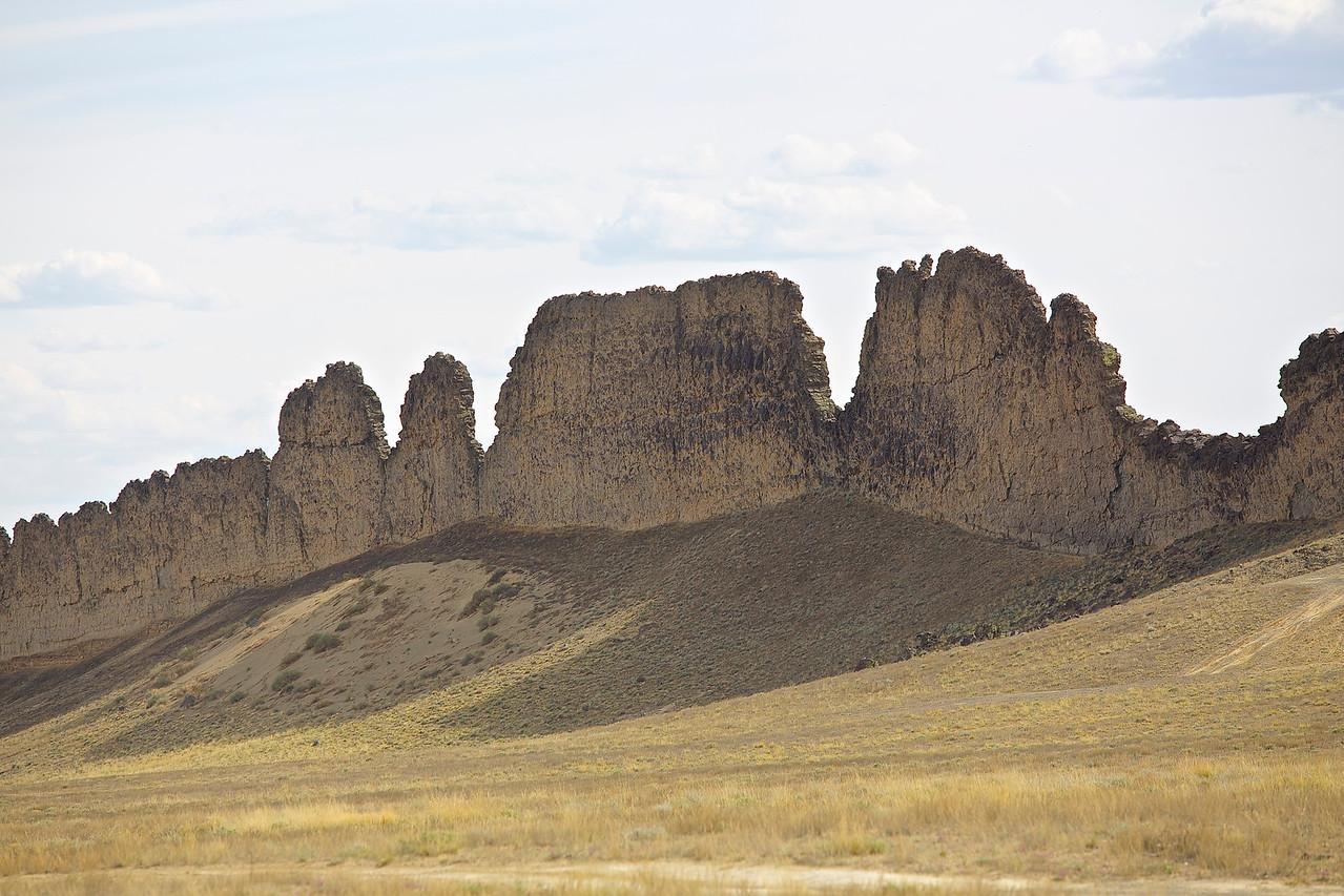 Ship Rock Wall.  Ship Rock, New Mexico