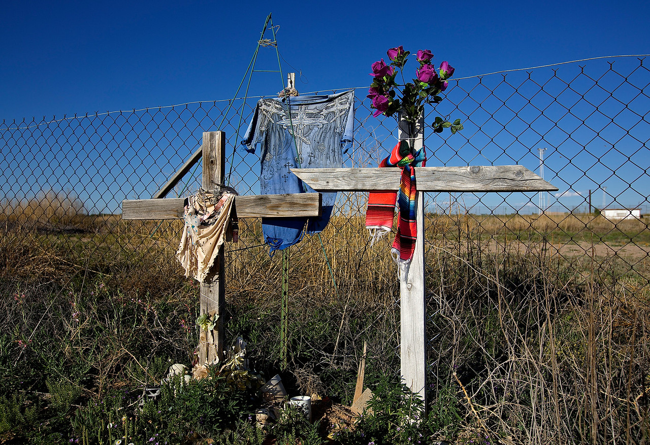 Roadside Memorial #20.  Roswell, New Mexico