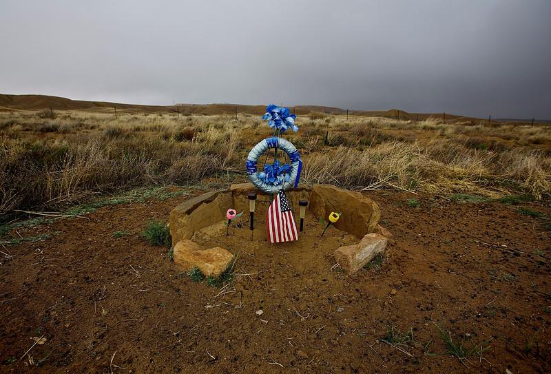 Roadside Memorial #9.  Hwy 160, Near Tonalea, Arizona