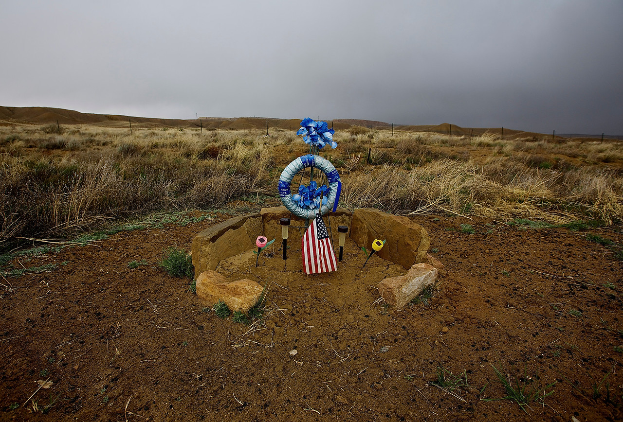 Roadside Memorial #9.  Hwy 160, Near Tonalea, Arizona
