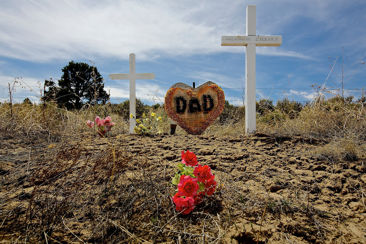 Roadside Memorial #19.  Near Counselor, New Mexico