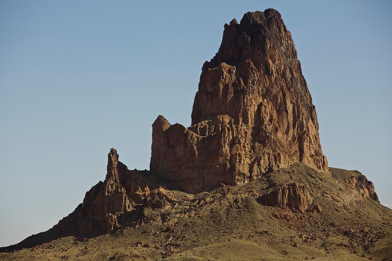 Tower.  Leaving Kayenta, Arizona