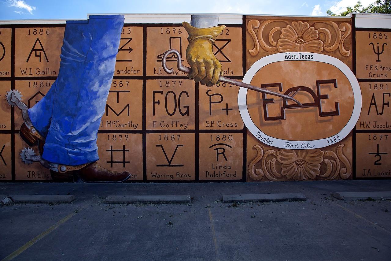 Mural. Eden, Texas.