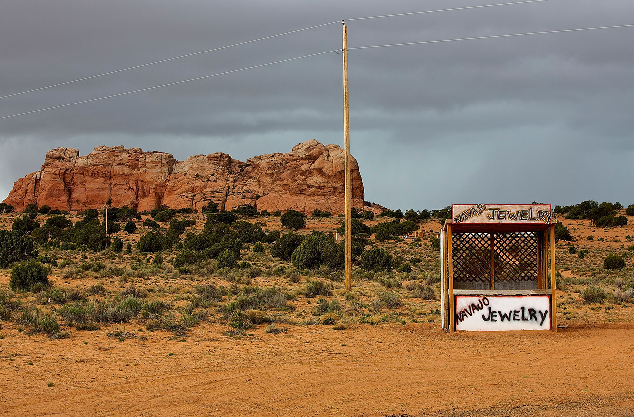 Navajo Jewelry.  Hwy 89, Outside Page, Arizona
