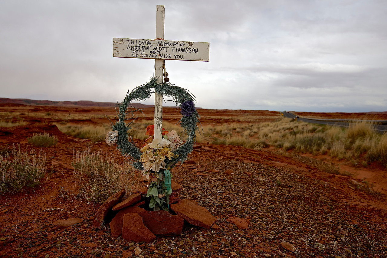 Roadside Memorial #5.  Hwy 89, Willow Springs, Arizona