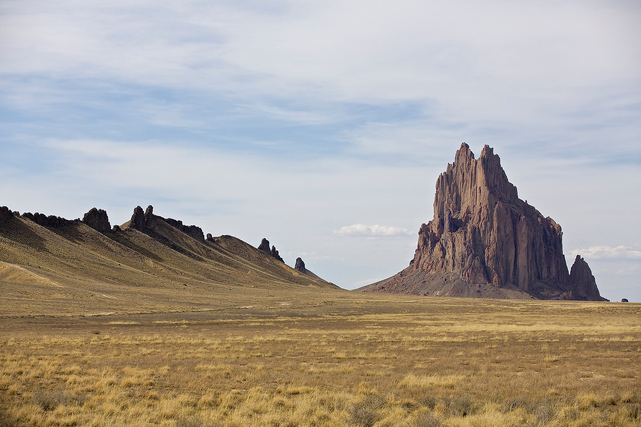 Ship Rock And Wall.  Ship Rock, New Mexico
