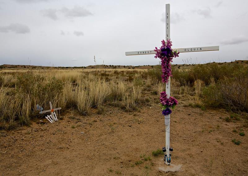 Roadside Memorial #11. Hwy 6, Between Mesita and Los Lunas, New Mexico