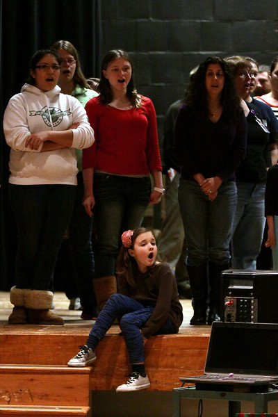 Springfield HS rehearses for 'Music Man'