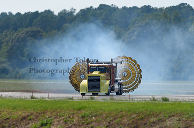 SHOCKWAVE JET TRUCK WITH PARACHUTES DEPLOYED